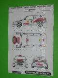 Decal 1/43 MF Zone - Toyota Corolla WRC Kulig - Barum Rally Zlin 2000