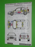 Decal 1/43 MF Zone - Toyota Corolla WRC Valousek - Sprintrally Sosnova 2001