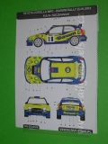 Decal 1/43 MF Zone - Toyota Corolla WRC Kulig - Barum Rally Zlin 2003