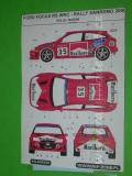 Decal 1/43 MF Zone - Ford Focus RS WRC Kulig / Baran - Rallye San Remo 2000