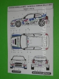 Decal 1/43 MF Zone - Toyota Corolla WRC Trneny - 38 Mogul Sumava Rally 2003