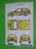 Decal 1/43 MF Zone - Toyota Corolla WRC Valousek  - 38 Mogul Sumava Rally 2003