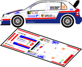 Decal 1/43 MF Zone - Skoda Fabia WRC Trneny - Rally Luzicke Hory 2012