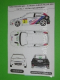 Decal 1/43 MF Zone - Ford Focus RS WRC Kuzaj  - 38 Mogul Sumava Rallye 2004