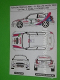 Decal 1/43 MF Zone - Toyota Corolla WRC Kuzaj / Horniacek - 31 Rallye Tatry 2000
