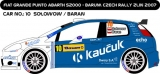 Decal 1/43 MF Zone - Fiat  Punto Abarth S2000 Sołowow - Barum Rally Zlín 2007