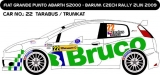 Decal 1/43 MF Zone - Fiat Punto Abarth S2000 Tarabus - Barum Rally Zlín 2009