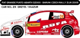 Decal 1/43 MF Zone - Fiat  Punto Abarth S2000 Grzyb  - Barum Rally Zlín 2009