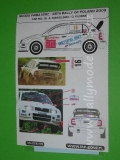 Decal 1/43 MF Zone - Škoda Fabia WRC Mikkelsen - 66th Rally of Poland 2009