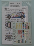 Decal 1/43 Reji Model - Ford Focus WRC - Barum Rally 2002/ J. Kulig