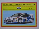 Resin kit 1/24 - Ford RS200, Lombard RAC Rally 1986 - Reji model