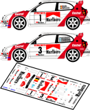 Decal 1/43 MF Zone - Toyota Corolla WRC - 29 Bianchi Rally 1998