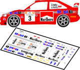 Decal 1/43 MF Zone - Ford Escort WRC Kulig / Baran - 47 Rajd Wisły 1999