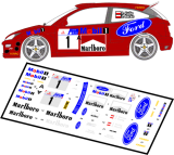 Decal 1/43 MF Zone - Ford Focus RS WRC 2000 Kulig / Baran