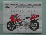 "Decal 1/12 Reji model - Honda  NSR 500 ""Marlboro"" Max Biaggi – GP Czech 1998"