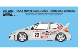 Decal 1/43 Reji Model - Peugeot 206 WRC - Rally Monte Carlo 2003/ R. Kresta