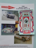 Decals 1/43 Škoda 130 RS - Rally Elba 1978