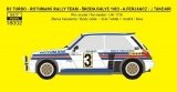 "Decal 1/18 Reji Model - Renault 5 Turbo ""ROTHMANS"" -  Rallye Škoda 1983"