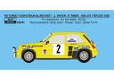 Decal 1/43 Reji Model - Renault 5 Turbo - Rallye Teplice 1982/ L. Pavlík