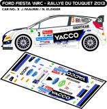 Decal 1/43 MF Zone - Ford Fiesta WRC J. Maurin - Rallye du Touquet 2013