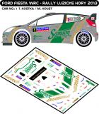 Decal 1/43 MF Zone - Ford Fiesta WRC T. Kostka - Rally Lužické Hory 2013