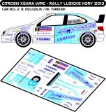 Decal 1/43 MF Zone - Citroen Xsara WRC R.Odlozilik - Rally Luzicke Hory 2013