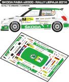 Decal 1/43 MF Zone - Škoda Fabia S2000 S. Wiegand - Rally Liepaja 2014