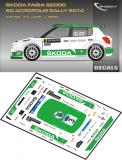 Decal 1/43 MF Zone - Škoda Fabia S2000 E.Lappi - Acropolis Rally 2014