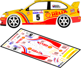 Decal 1/43 MF Zone - Seat Cordoba WRC Sztuka/Carlsson - Rally Poland 2001