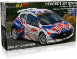 Plastic kit 1/24 - Peugeot 207 S2000 - winner Ypres Rally 2009