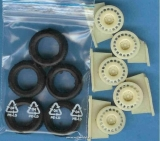 1/24 Reji Model - Wheels + tires ( snow ) / 5 pcs - O.Z.Racing / 4 screw