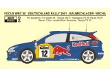Transkit 1/24 Reji model - Ford Focus WRC - Rally Deutschland 01 - R.Baumschlage