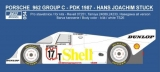 Decal 1/24 Reji model - Porsche 962C - 1984 - H.J.Stuck