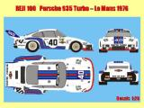 "Decal 1/20 Reji model - Porsche 935 Turbo ""Martini"" - Le Mans 1976"