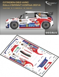 Decal 1/43 MF Zone - Citroen DS3 WRC T. Kostka - Rallysprint Kopná 2014