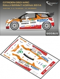 Decal 1/43 MF Zone - Citroen DS3 WRC A. Tlustak - Rallysprint Kopná 2014