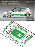 Decal 1/43 MF Zone - Škoda Fabia S2000 S. Wiegand - Ypres Rally 2014