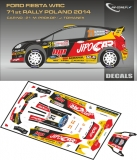 Decal 1/43 MF Zone - Ford Fiesta WRC M. Prokop - Rally Poland 2014