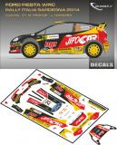 Decal 1/43 MF Zone - Ford Fiesta WRC M. Prokop - Rally Italia Sardegna 2014