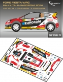 Decal 1/43 MF Zone - Ford Fiesta WRC J. Melichárek - Rally Italia Sardegna 2014