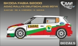 Decal 1/43 MF Zone - Škoda Fabia S2000 A. Kremer - Rally Deutschland 2014