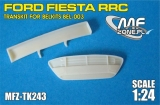 Transkit 1/24 MF Zone - Ford Fiesta RRC - Resin front grill and rear wing