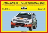 Resin kit 1/24 - Škoda Fabia WRC, Rally Australia 2005 - Colin Mc Rae