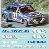 Decals 1/43 GITANES - R5 Turbo - Tour de Corse 1980/B. Saby