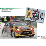 Decal 1/24 - Karl Kruuda - Ford Fiesta S2000 - Rally Sweden 2014