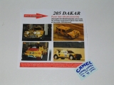 Decals 1/43 CAMEL - Peugeot 205 T16  Rally Dakar