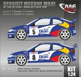Kit 1/24 MF Zone - Renault Megane Maxi - Tour de Corse 1996