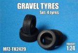 Transkit 1/24 MF Zone - Gravel Tyres (4 piece)