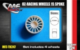 Transkit 1/24 MF Zone - OZ-Racing wheels 15 spoke 4 screw  (4 piece)