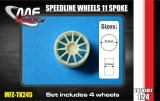 Transkit 1/24 MF Zone - Speedline Wheels 11 spoke 5 screw (4 piece)